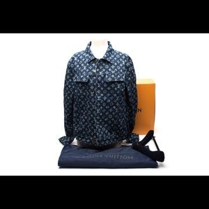 NWT LOUIS VUITTON BLUE MONOGRAM Denim Jacket.